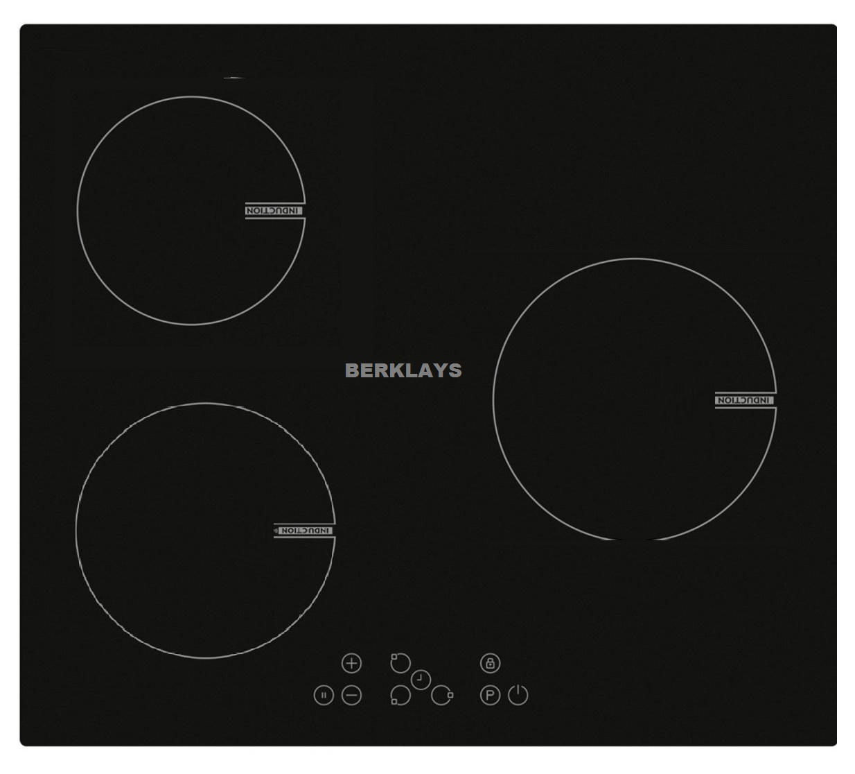 plaque induction ou vitroc ramique 3 zones berklays. Black Bedroom Furniture Sets. Home Design Ideas